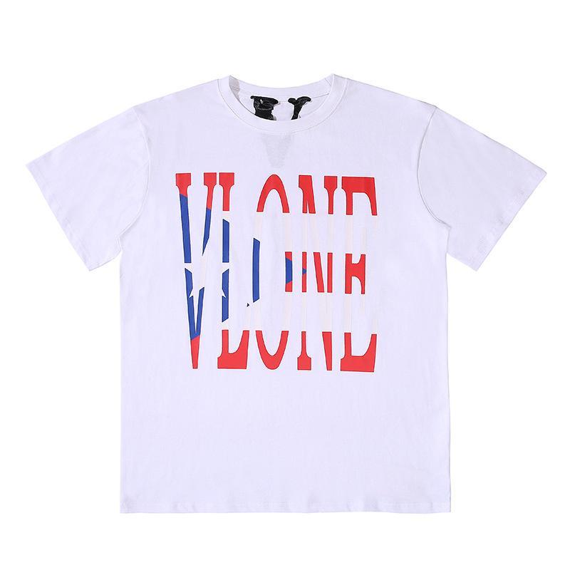 Vlone Uomo Nero Bianco maglietta Hop T Shirt Vlone Stylist maglietta Streetwear Vlone Drago Cinese Uomini Donne Hip Polo formato S-XL