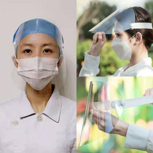 Transparent réglable plein écran facial en plastique anti-buée Masque de protection