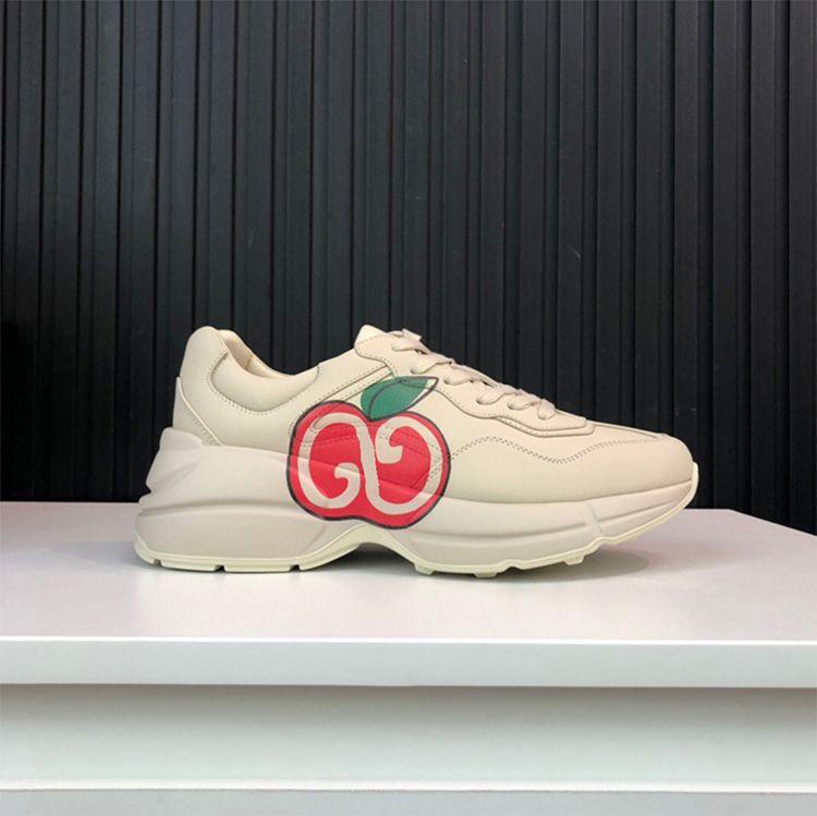 de gros femmes rython vrai cuir lettre gros lèvres fraise chaussures de cause d'Apple font le style ancien