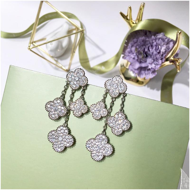 Designer Earrings for Women Jewelry for Women Stud Earrings Round Diamond Earring Girls Gold Luxury Iced Out Fashion Wedding Accessories