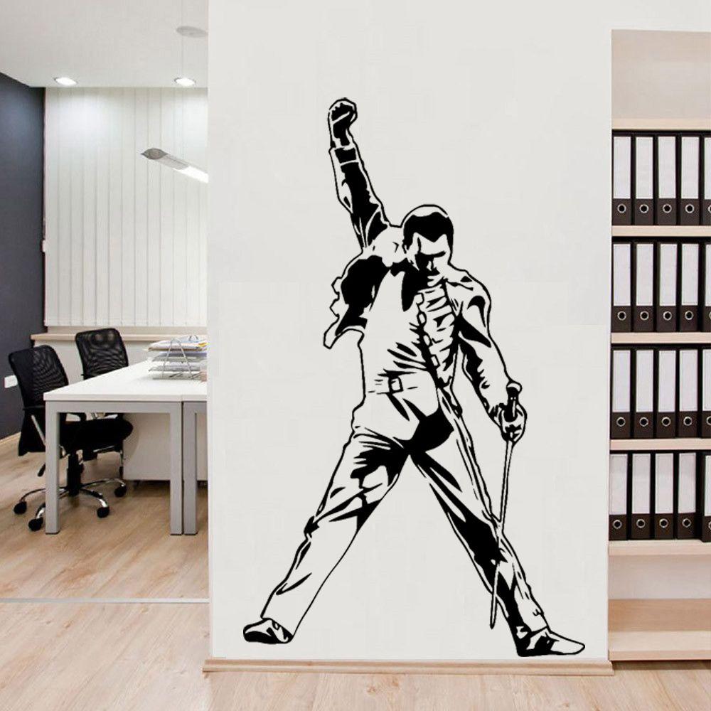 Vintage Freddie Mercury Reine Band Musique Rock Vinyle Autocollants Papier peint Chambre Décoration Chambre Salon décorations