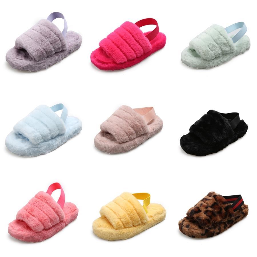 Gladiador Sandalias 2020 de la cuña del cuero deslizadores de las mujeres calientes de la venta de moda de verano Mujeres Dulce Pisos talón zapatillas zapatos de las señoras Negro # 767