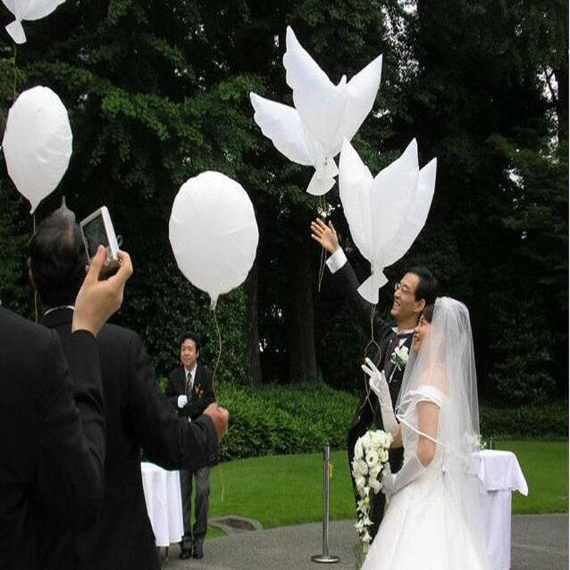 Wedding Helium Inflatable Biodegradable White Dove Balloons for Wedding Party Decoration Doves Shaped Bio Balloons 104*40CM