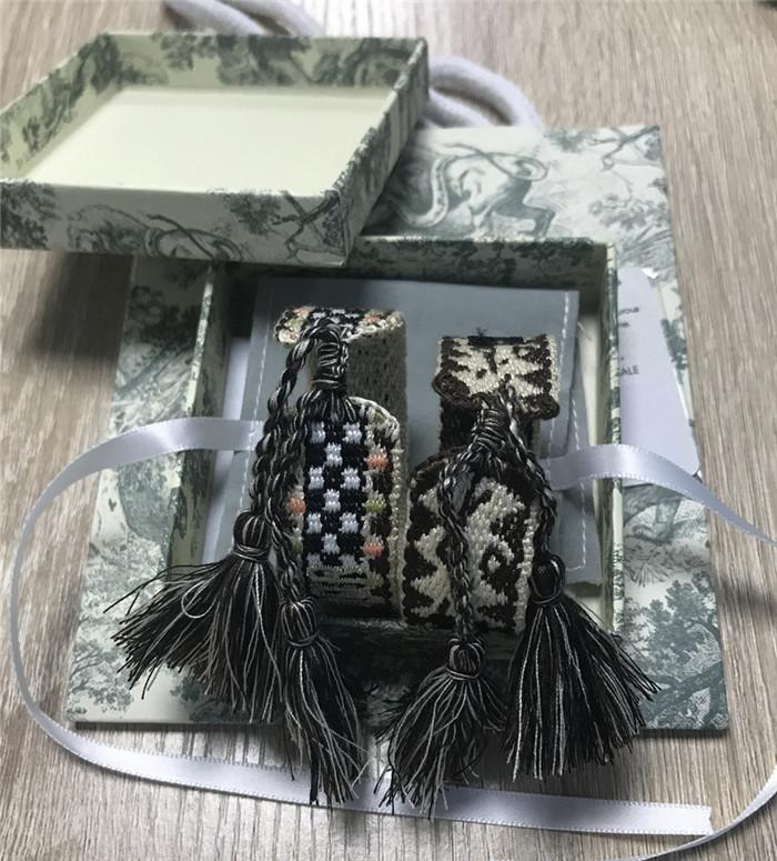 Pulsera tejida de cuerda de alta calidad Bordado pulsera borla famosa marca joyería tela pulsera freindship con caja regalo envío gratis