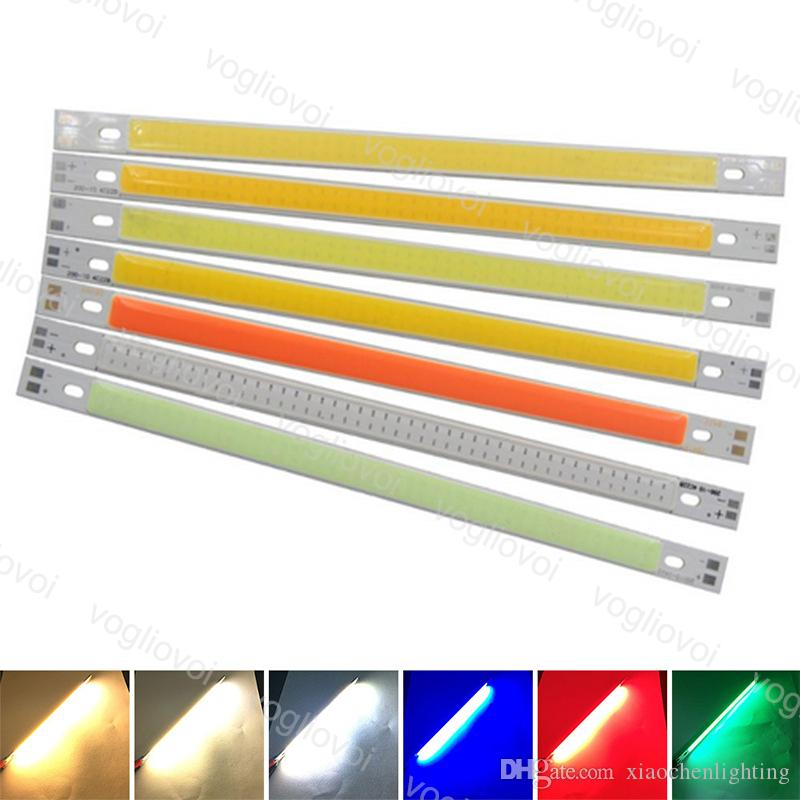 حبات خفيفة 200 * 10 ملليمتر dc12v قطاع 10 سنتيمتر 10 واط مصباح الأزرق الأخضر الأحمر 3500K اللون أدى شريط أضواء 100MM 12V cob bulb eub