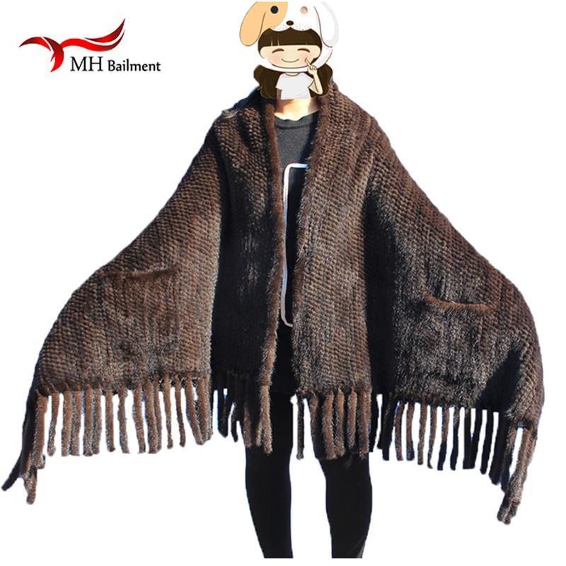 Elegante real de punto bufanda del mantón mujeres ocasionales del poncho de punto Negro bufandas bufanda, sombrero Conjuntos Guante S # 2