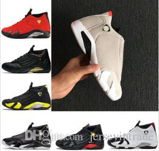 14 XIV Verde oxidado Playoffs Indiglo Thunder Dedo negro gamuza roja 14s Hombres Zapatillas de baloncesto Zapatillas de deporte de última generación Zapatillas de deporte de diseño