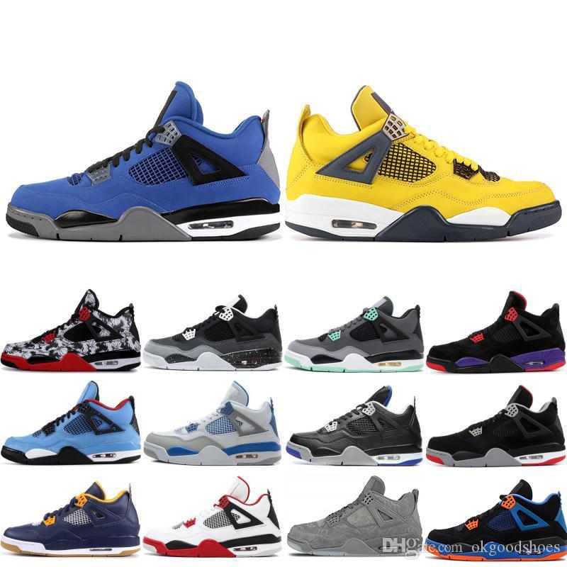 Melhor qualidade 4 4S homens tênis de basquete vôo Nostalgia relâmpago Eminem Encore Esporte treinador IV Designer Sneakers US 7-13