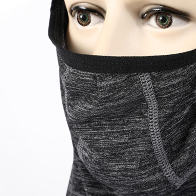 Masque Ice Soie fonctionnelle Anti-UV à séchage rapide respirant évacuant l'humidité Hairband Cap Écharpe Vêtements de sport de plein air Accessoires