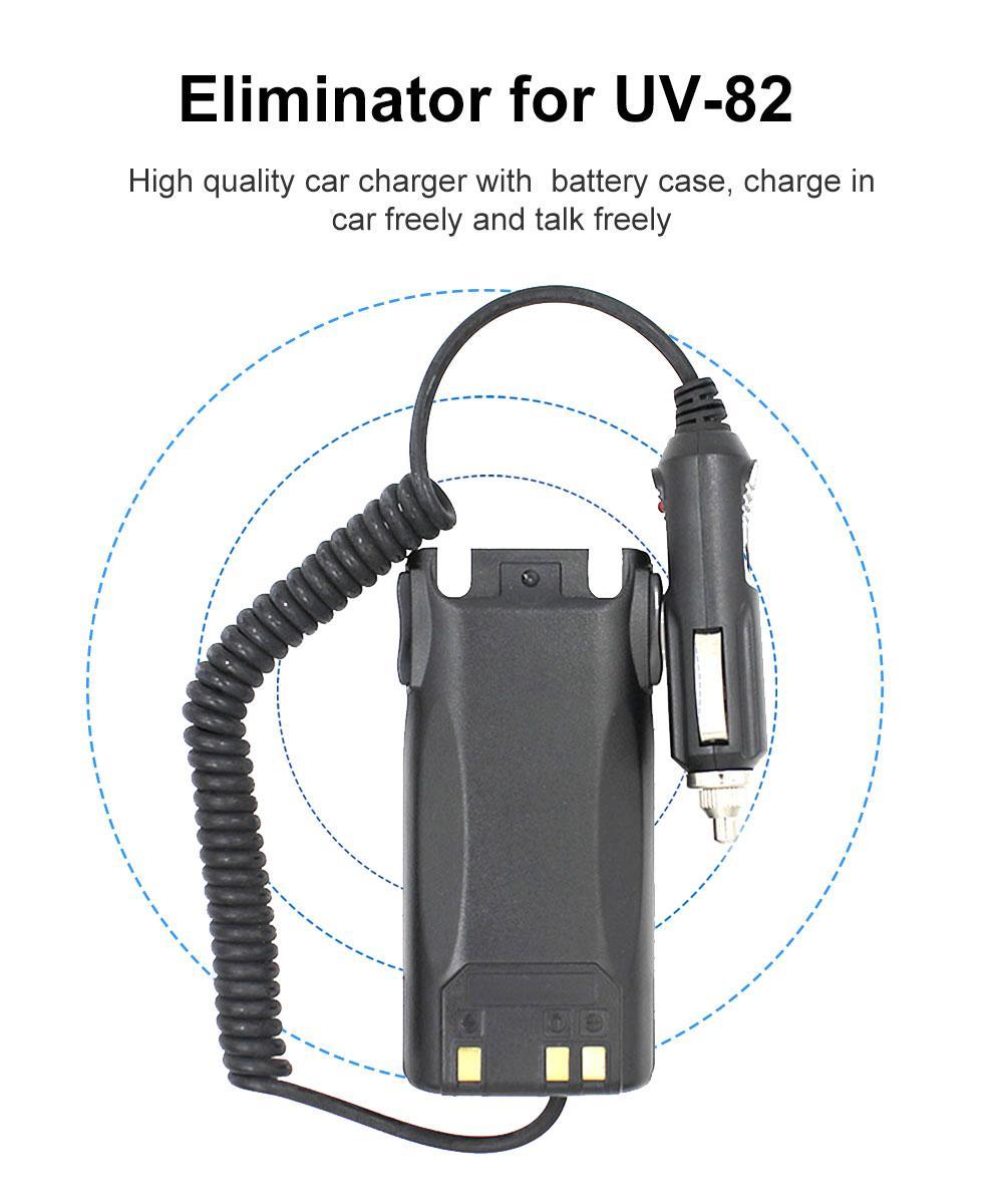car-charger original Bettery chargers Car Eliminator EL-UV82 for 2 way radio BAOFENG UV-82 UV-82-8W UV-82C UV-89 UV-8D