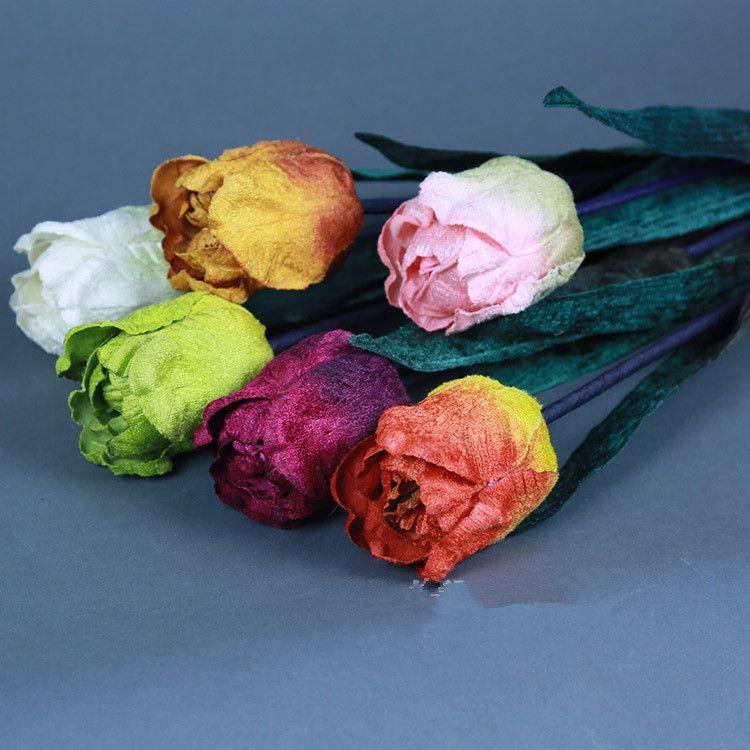 En gros Simulé faux Fleurs belle Tulipes Salon chambre chambre décorer Wedding Route Direction Arrangement # 218