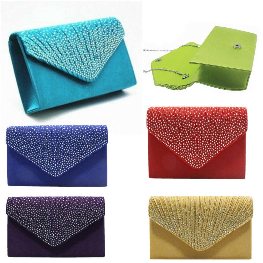 Diseñador-cristalino brillante de embrague de la tarde del bolso del doblez cosmética dama de honor de moda del monedero del bolso del Rhinestone bolsas de hombro Crossbody