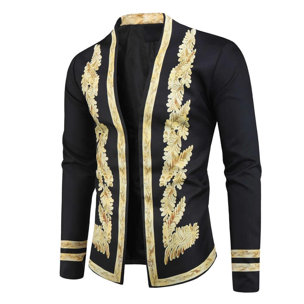 Ethnic Retro Impresso Jacket Cardigan Casual 2019 Outono E Inverno New Style Hot Selling Europa E Femininos América