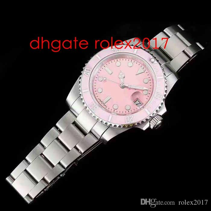 2021 Новый стиль мужской автоматический ETA 2813 сапфировые стекла часы мужчины розовый циферблат керамический безель базель World Sport Subpetual спортивные наручные часы