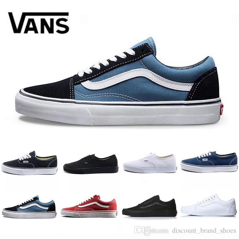 Cheap VansSneakers Old Skool Canvas Mens Casual Shoes Black White Blue Red Classic Men Women Trainers Sports Sneakers Skate 36 44 Running Shoes For