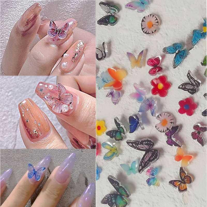 1pcs Colorful 3D Nail Art Decorations Mixed Size Butterfly Designs DIY Tips Nail Sequin Slice Manicure Accessories Ornaments