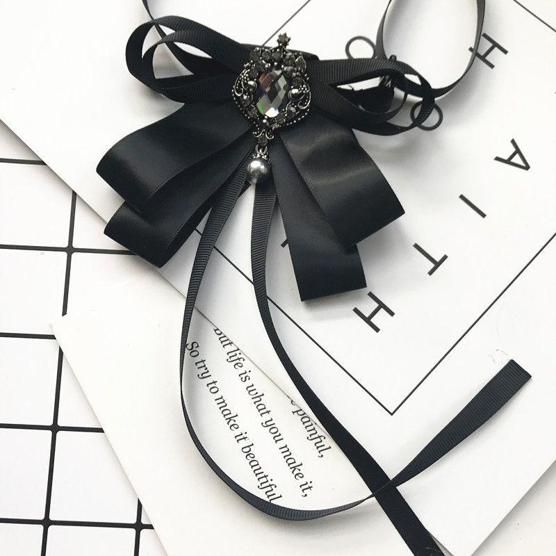 Sunnice Trendy Ribbon Bow Tie Tie Vestido de casamento das mulheres Camisa Blusa Laços de seda Bowtie Best Man Noivo Collar Pin Outfit Outfit Acessórios