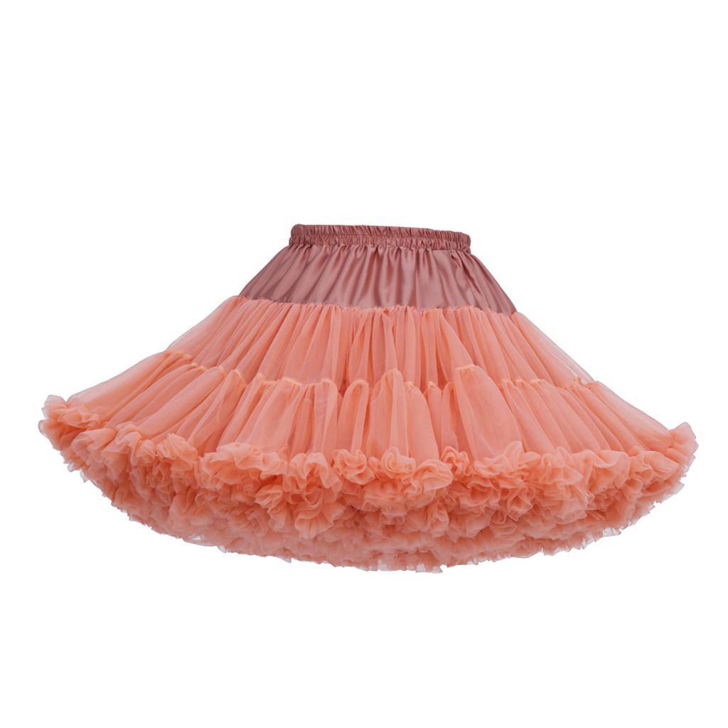 Bayanlar Kızlar Tutu Bow Etek Kabarık Katı Renk Bale pettiskirt Dans Partisi Etekler Prenses Tül Etekler Damla nakliye