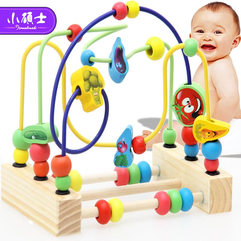 Wooden Math Toy Counting Circles Bead Abacus Wire Maze Roller Coaster Montessori Educational For Baby Kids J190427