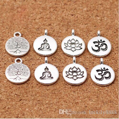 Árbol de la vida conector Tibetano Plata Encantos Paquete de 20