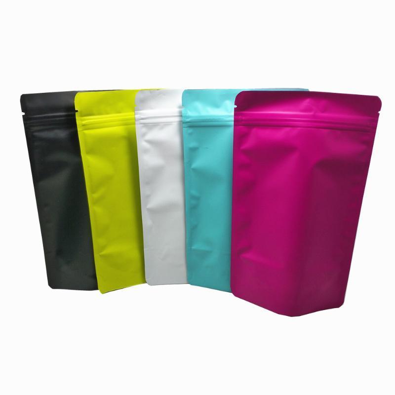 500pcs DHL Stand Up Folha de alumínio Embalagens Bolsas Mylar auto estanques Zipper Nuts Amostra armazenamento saco reutilizável
