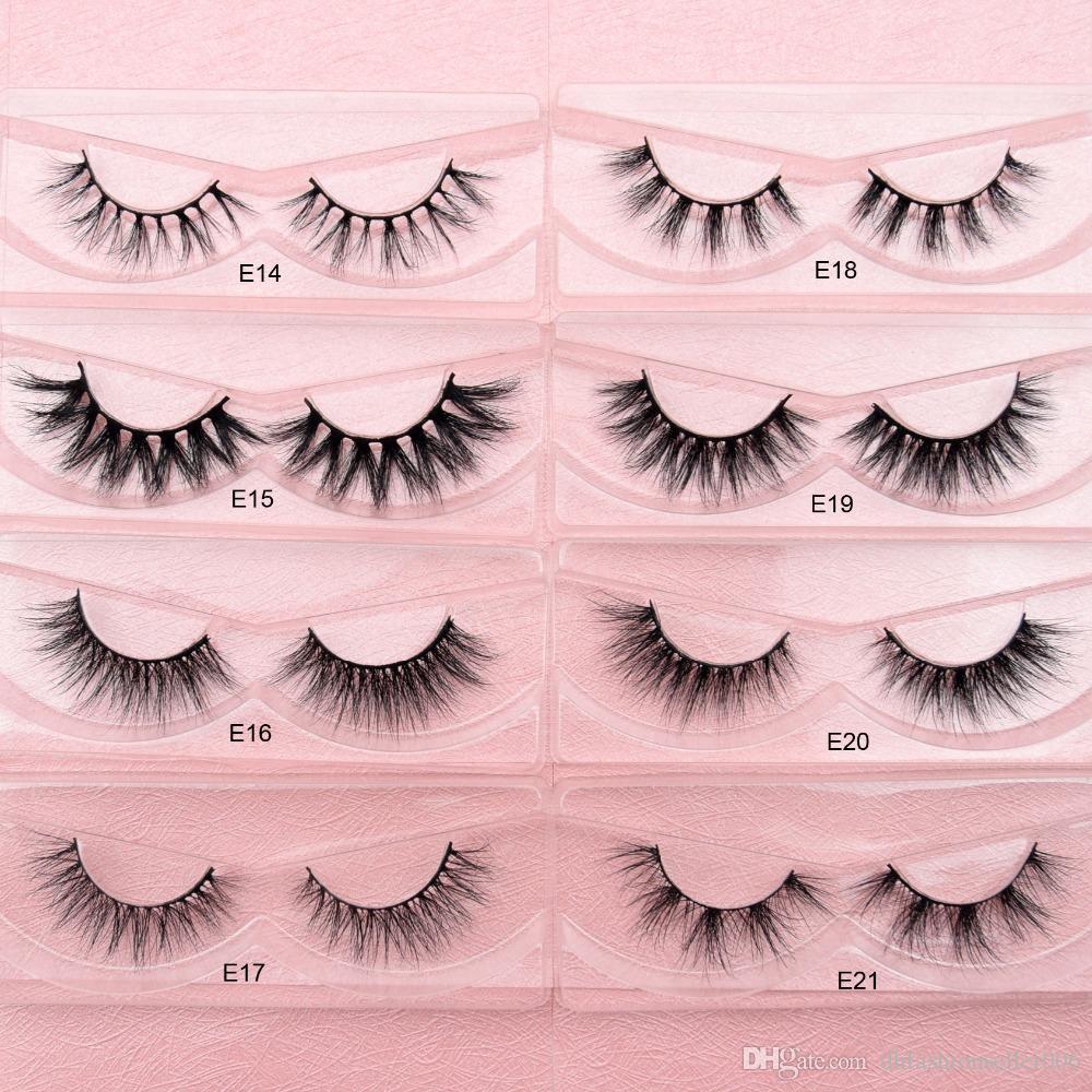 E14-E21 Mink Eyelashes 100% Cruelty free Handmade 3D Mink Lashes Full Strip Lashes Soft False Eyelashes Makeup Lashes