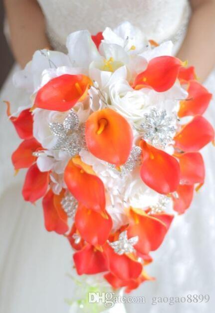2020 New Crystal Brooch Wedding Bouquet Wedding Accessories Bridesmaid Artifical Flowers Wedding Flowers Bridal Bouquets