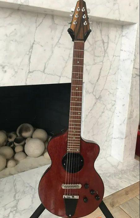 Nueva Rick Turner Modelo 1-C-LB Lindsey Buckingham Borgoña Brown semi hueco de la guitarra eléctrica de cuerpo Negro Encuadernación, 5 pieza laminada de arce cuello