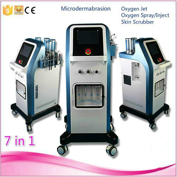 Nuevo producto más caliente de la piel Cuidado de energía Peel microdermoabrasión Hydradermabrasion piel oxígeno de belleza la piel de agua Led Máquina rejuvenecimiento