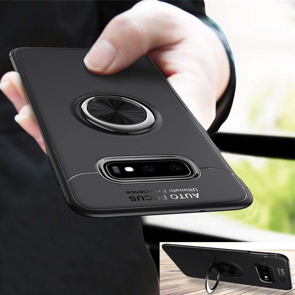 For Samsung Galaxy S10 S10E Case Soft Silicone Magnetic Ring Cover For Samsung Galaxy S10 Plus S 10 A50 A30 A70 ACase Cover