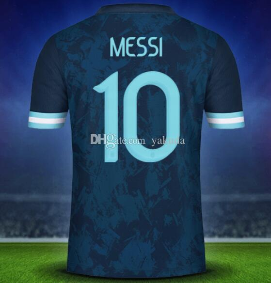 19-20 Argentina 10 Messi 21 Dybala Thai Quality Soccer Jersey Shirts,Home Away Black Customized 11 Di Maria 22 L.MARTINE Soccer Wear