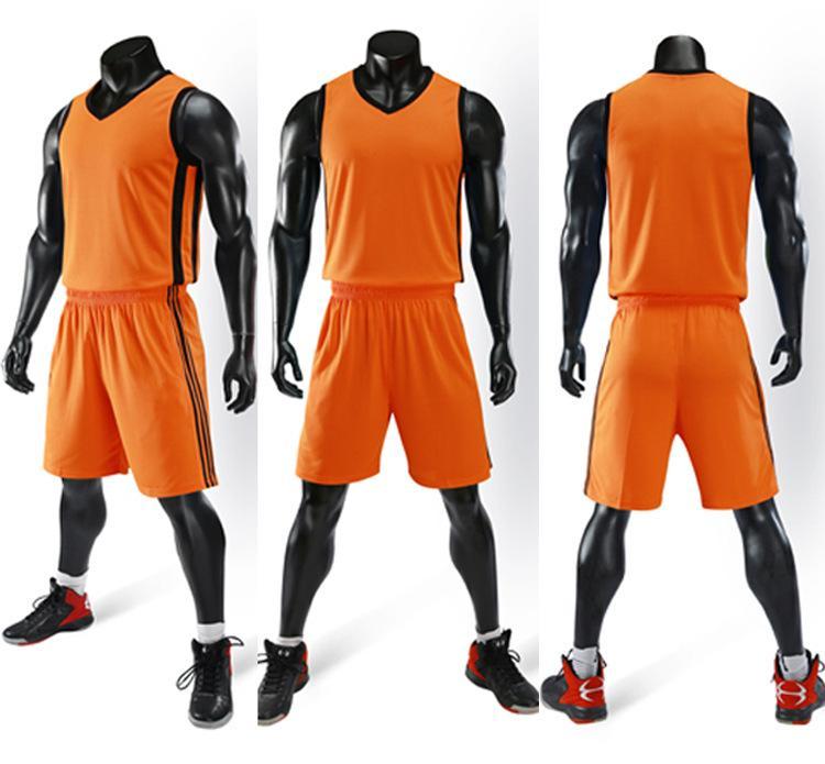2019 Nouveaux maillots de basket-ball Blank logo imprimé taille Mens S-XXL pas cher Prix d'expédition rapide de bonne qualité A006 orange OG003n