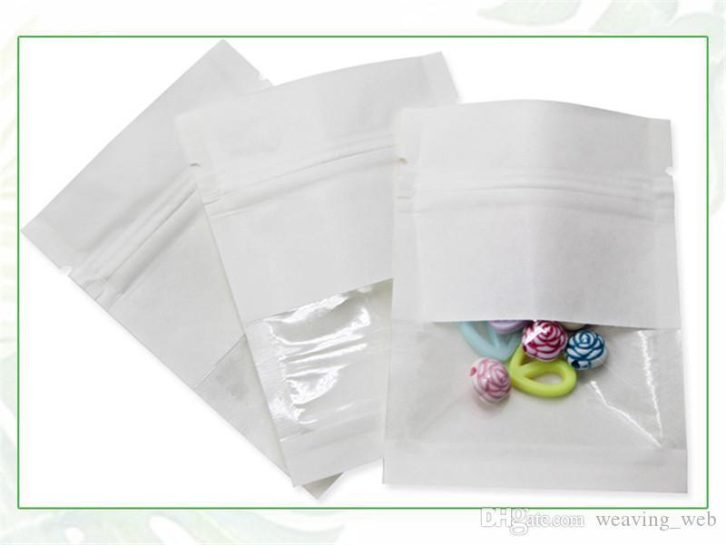 Kraft bolsa de papel Alimentación de barrera de humedad Stand Up Bolsas de recuerdos de fruta seca Alimentos té bolsas de embalaje Zip Lock embalaje sellado de la bolsa