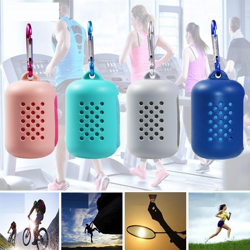 2PCS Creative Microfiber Sports Towel Cold Towel Cold Towel Outdoor Travel Portable Quick-drying