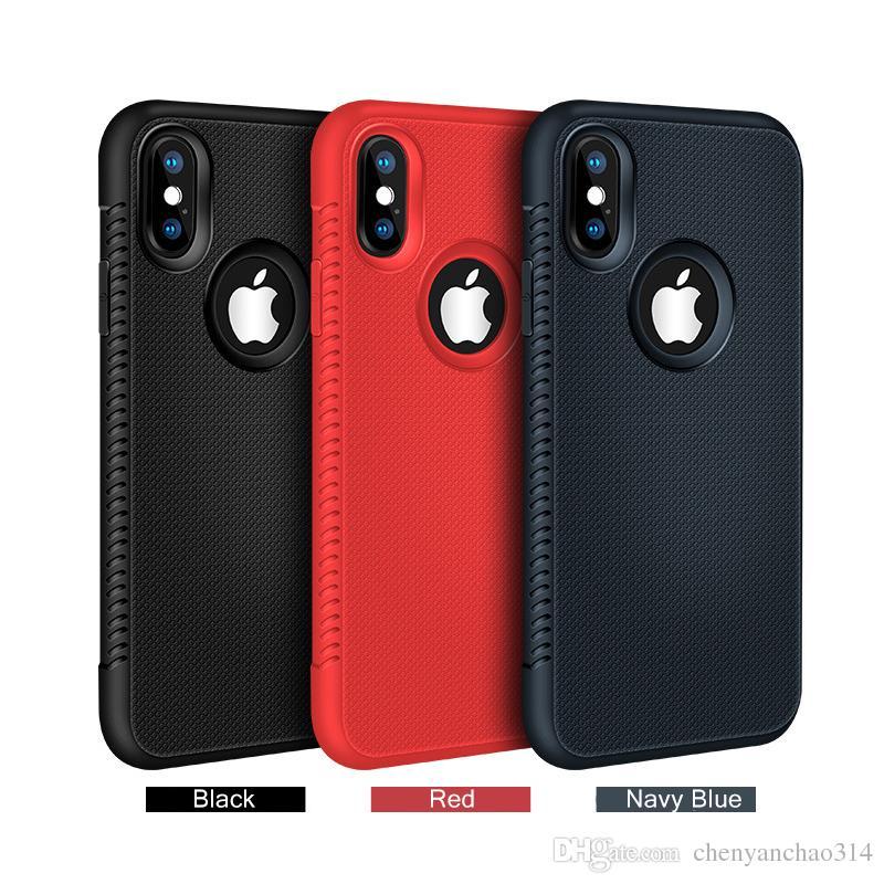 Cas de téléphone de luxe en silicone pour iPhone XS Max XR XR 5 5S SE iPhone 7 8 7Plus 8Plus iPhone 6 S 6S 6Plus Dissipation thermique Couvercle mince