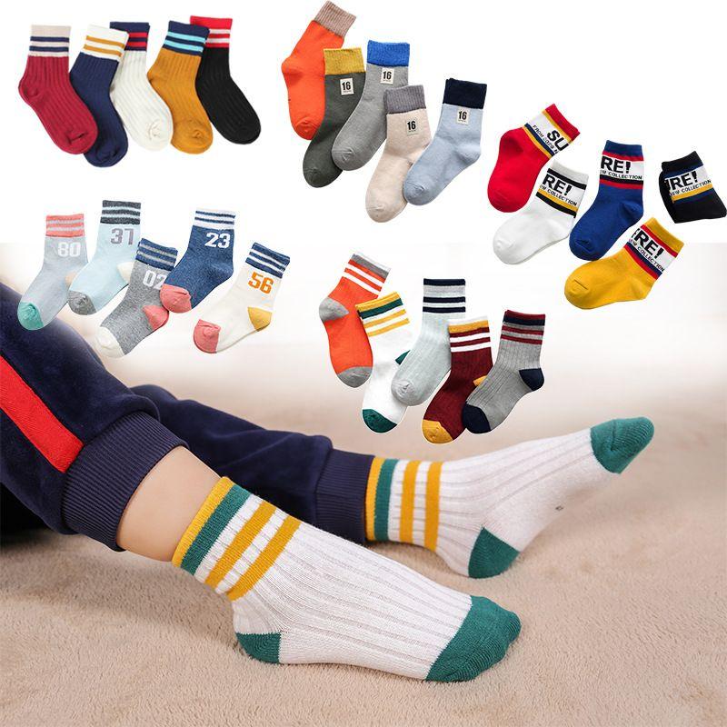 مزيج 35 ألوان الاطفال الرياضة الجوارب الأطفال الكرتون القطن الجاكار رياضي عارضة مصمم الجوارب كرة السلة جورب عداء الأحذية