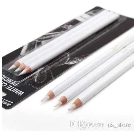 Professionelle 3 Stücke Weiß Skizze Kohle Bleistifte Standard Bleistift Zeichnung Bleistifte Set Für Schule Werkzeug Malerei Kunst Liefert