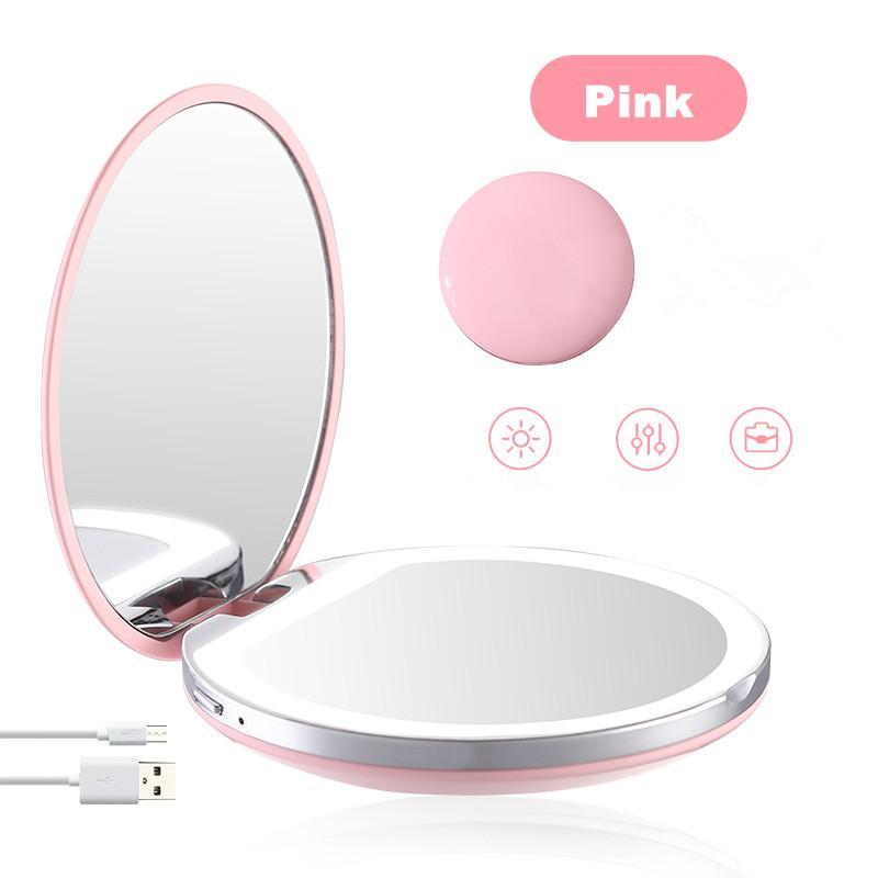 Высококачественный светоизлучающих мини складной портативный светодиодный туалетное зеркало с небольшим зеркалом косметическим зеркалом легкий макияж девушки с легким косметическим Mir