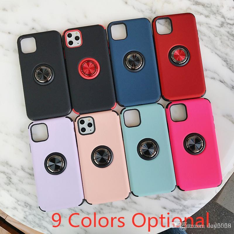 High Quality Metal Ring Holder with Magnetic on Car Cover TPU Case for Apple Iphone 11 11PRO 11PRO MAX