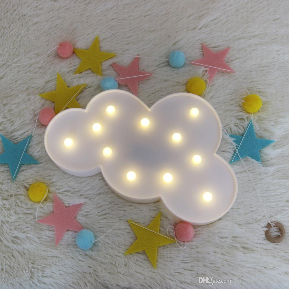 Güzel Bulut LED 3D Gece Işığı Asma Sevimli Çocuklar Hediye Oyuncak İçin Bebek Çocuk Odası Dekorasyon Lambası ışıkları