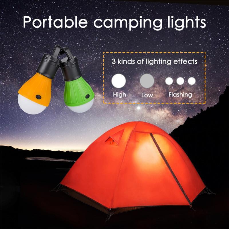 Lámpara de emergencia al aire libre Mini Linterna portátil Carpa Bombilla LED lámpara de emergencia que cuelga del gancho impermeable linterna para acampar