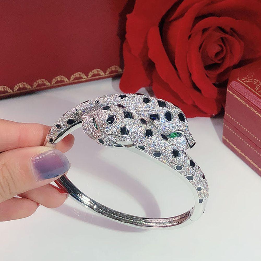 Doppel Leopard Kopf Persönlichkeit herrschsüchtig Frauen-Armband Hot Seiko freies Verschiffen Luxurious Tanz-Armband Geben Geschenke Leopard Armbänder