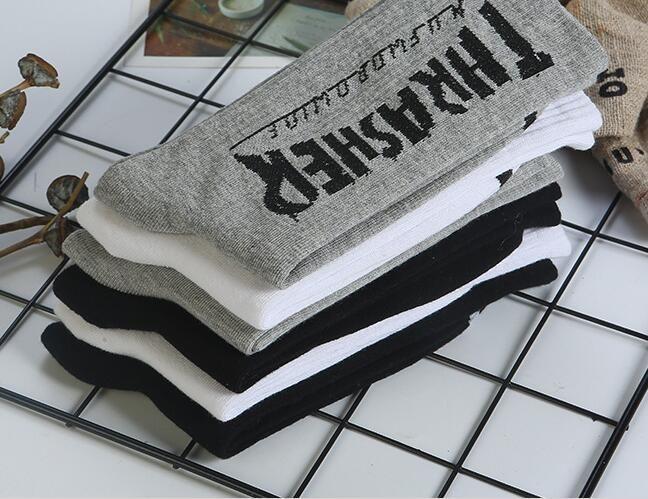Deportes de la moda de algodón calcetines medias transpirable de alta gama Harajuku del monopatín de algodón hip-hop Calle coreana de los calcetines del estilo euramerican
