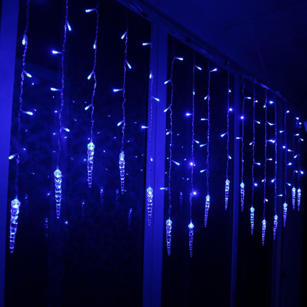 Outdoor Christmas Ice Piton LED String lights Flashing Curtain Lights Waterproof Holiday Party Connectable Wave Fairy Light D35 Y200603