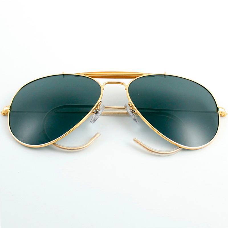3030 gafas de sol polarizadas de aviación mujer de 58 mm hombre lente de cristal TAC piloto espejo gafas de sol UV400 gafas de artesanía amante de la naturaleza