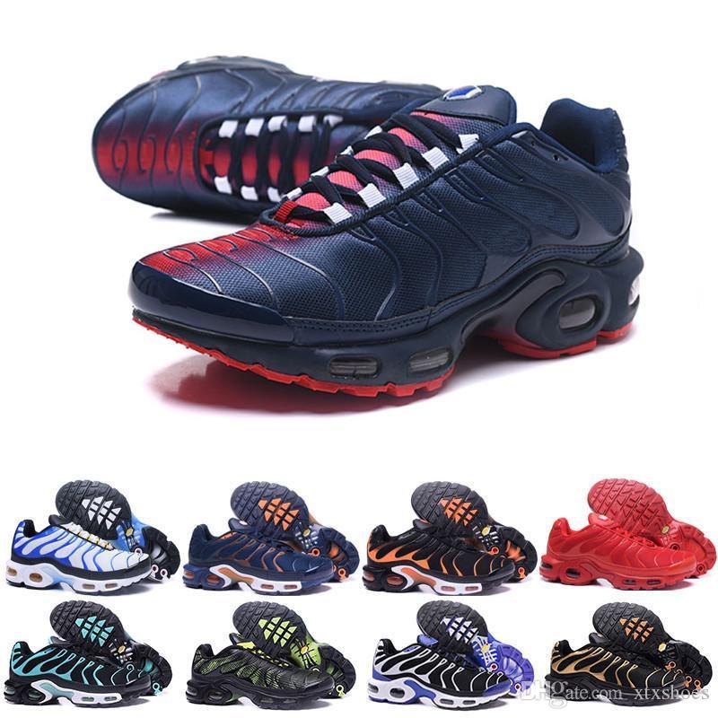 Sapatos de desconto Hight qualidade Outdoor Sports New TN homens preto branco vermelho dos homens respirável Runner Sneakers Homem Sapatilhas Tennis K-583