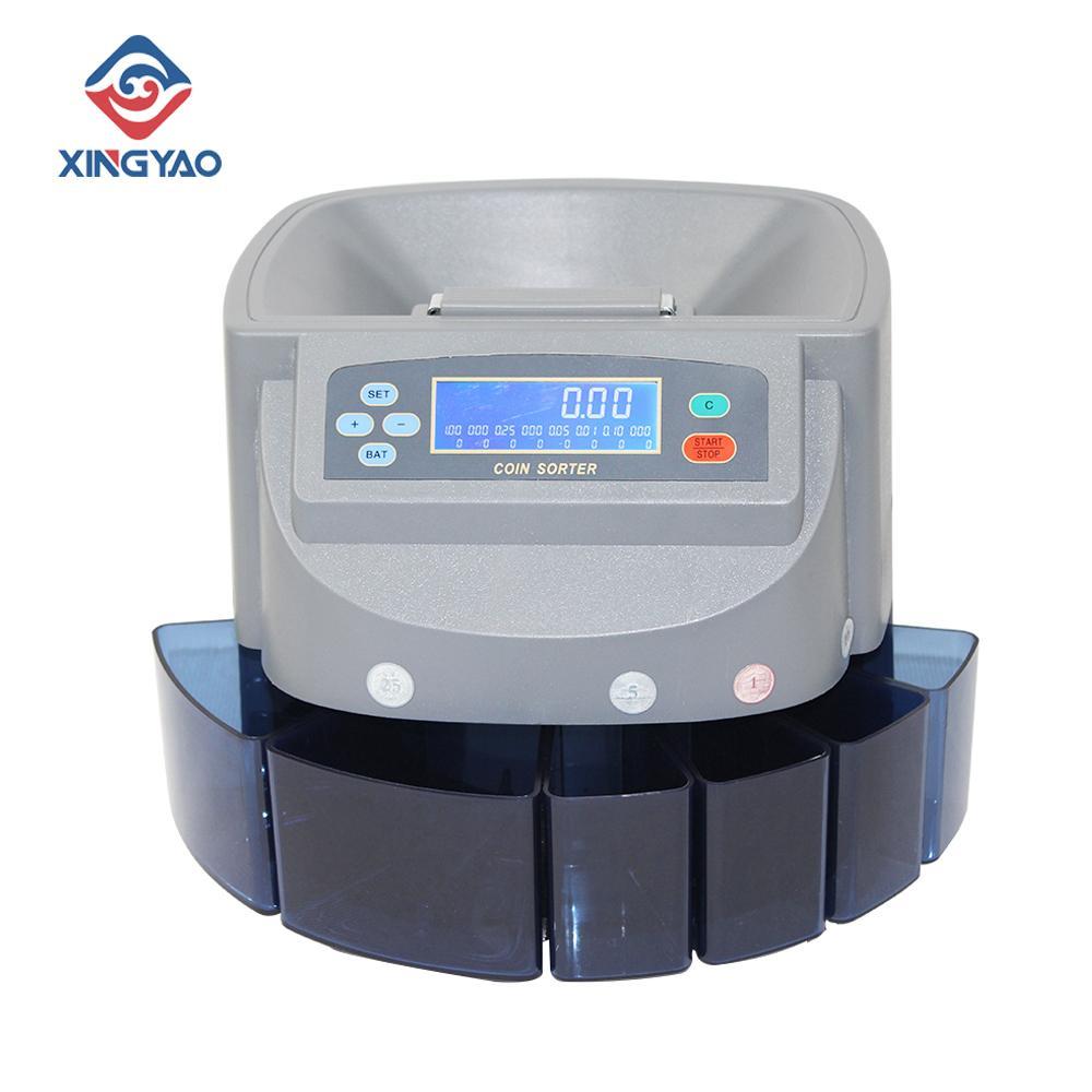 عرض شاشة LCD USD كوين فارز مكافحة مزيج القيمة العملة النقود عد آلة متعددة الوزن مواجهة عملة مع التخصيص