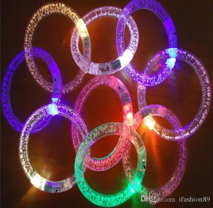 Venta al por mayor de luz hasta juguetes Led intermitente parpadeante Pulsera Pulseras de mano para la decoración del partido para DHL libera la nave