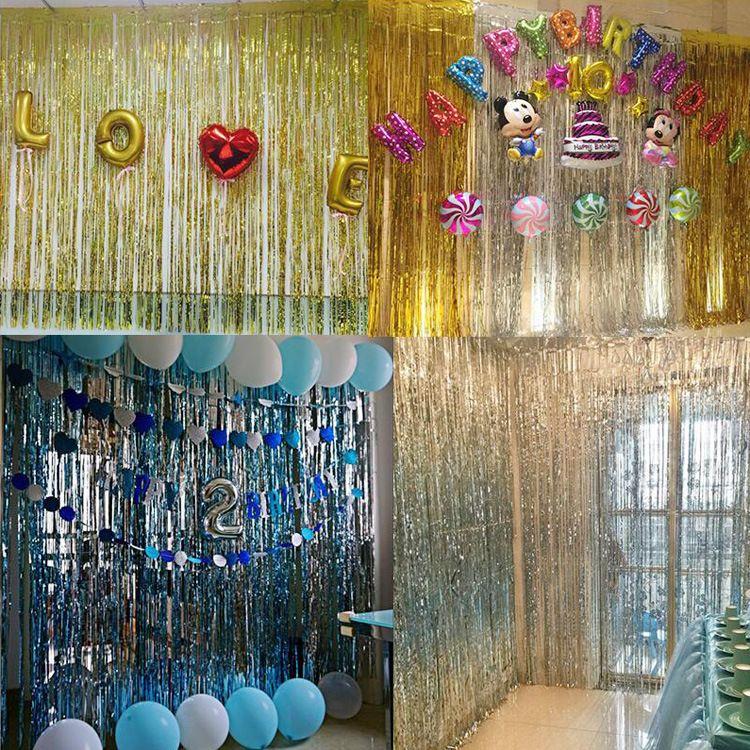 Vorhang bunte tür vorhang partei liefert folie kinder cartoon tier pferd float für luftballons geburtstagsfeier dekoration