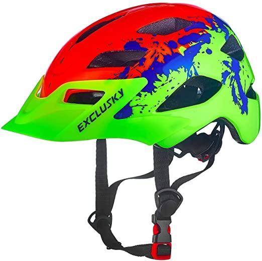 Exclusky Fahrradhelme für Kinder Leichte justierbarer Fahrrad Fahrradhelm für Junge Mädchen 50-57cm (Ages 5-13) Radfahren Schutzhelme